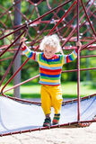 Little boy on a playground Royalty Free Stock Photography