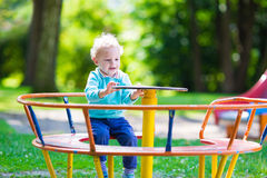 Little boy on a playground Royalty Free Stock Photos