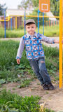 The little boy on a playground Stock Image
