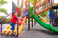 The little boy on the playground Royalty Free Stock Photography