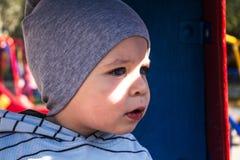 Little boy on playground Stock Photo