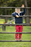 Little boy at playground Royalty Free Stock Photo