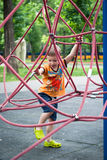 Little boy on the playground Stock Photography