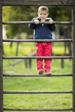 Little boy at playground Stock Photography