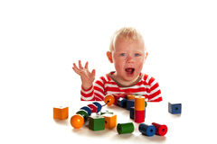 Little boy is playing Royalty Free Stock Photo