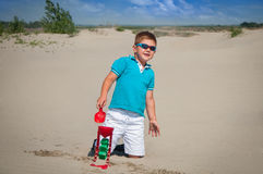 Little boy playing Stock Photography