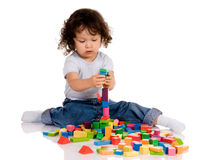 Little boy playing Royalty Free Stock Image