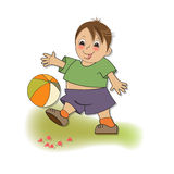 Little boy playing ball Royalty Free Stock Photos