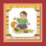 Little boy playing ball Stock Photo