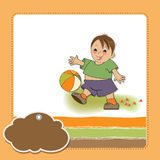 Little boy playing ball Royalty Free Stock Photo