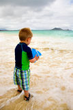 Little Boy Playing on the Beach Royalty Free Stock Image