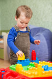 Little boy playing in the children's designer Stock Photography