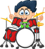 Little boy playing drum Royalty Free Stock Image