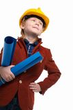 Little boy playing engineer role Stock Photography