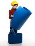 Little boy  playing engineer role Stock Photo
