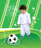 Little boy playing football Royalty Free Stock Photography