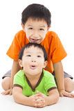 little boy playing with his bother Stock Images