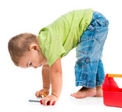 Little boy playing Stock Image