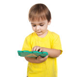 Little boy  playing letters Royalty Free Stock Photo