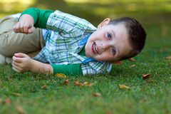Little boy playing in the park Royalty Free Stock Photography