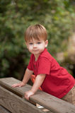 Little boy playing on playground Royalty Free Stock Image