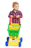 Little boy playing Royalty Free Stock Photography