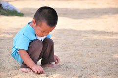 Little boy playing sand Royalty Free Stock Photos