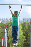 Little boy playing sports Royalty Free Stock Photo