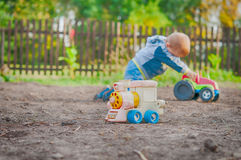 A little boy playing Royalty Free Stock Photos