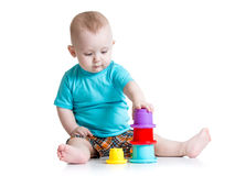 Little boy playing with toys Stock Photography