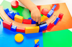 Little boy playing with toys Royalty Free Stock Image