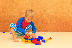 Little boy playing with toys Royalty Free Stock Photo