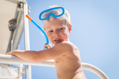 Little boy playing in the water Stock Photography
