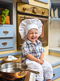 Little boy  plays the cook Royalty Free Stock Photo