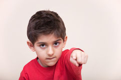 Little boy pointing Royalty Free Stock Image