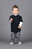 Little boy pointing Stock Image