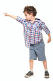 Little boy pointing away Stock Photos