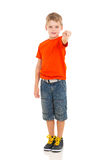Little boy pointing Royalty Free Stock Photo