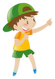 Little boy pointing finger at something. Illustration Royalty Free Stock Images