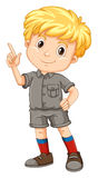 Little boy pointing his finger up Royalty Free Stock Photo
