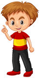 Little boy pointing his finger up. Illustration Royalty Free Stock Images