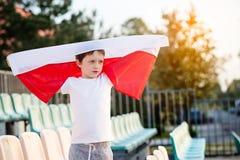 Little boy - Polish football team fan Stock Images