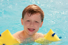 The little boy in pool. Stock Image