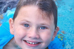 A little boy  in a pool Royalty Free Stock Image