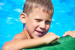 Little boy in pool Royalty Free Stock Images