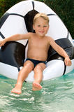 Little boy in a pool Royalty Free Stock Photo