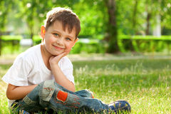 Little boy portrait Stock Images