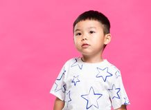 Little boy portrait. Asian young little boy royalty free stock photography