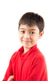 Little boy portrait close up face with long john cloth Stock Photography