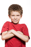 Little boy portrait frown sulk Stock Photo